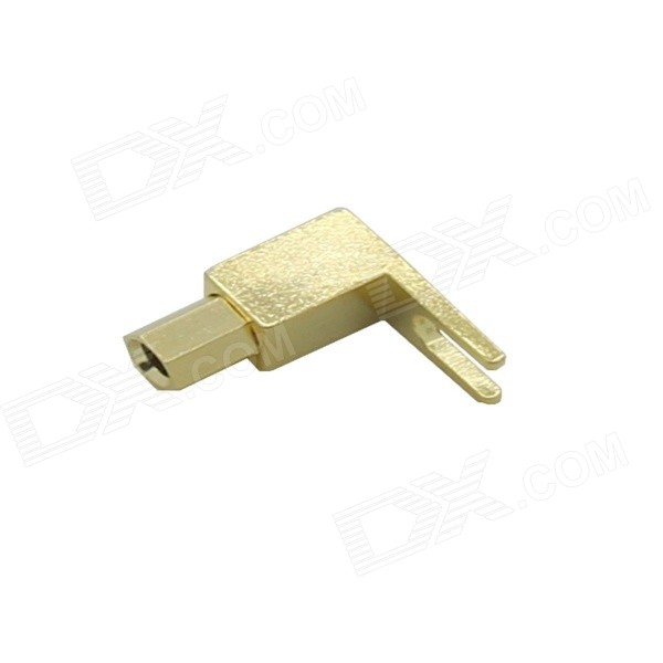 Gold Plated Stereo Banana Plug Fork Terminal Block - Golden