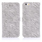 "ENKAY Zebra Skin Pattern PU + Plastic Case w/ Stand / Card Slots for IPHONE 6 4.7"" - White + Black"