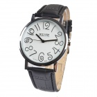 NST002-2 Women's Fashion PU Leather Band Analog Quartz Wrist Watch - Black (1 x 377)