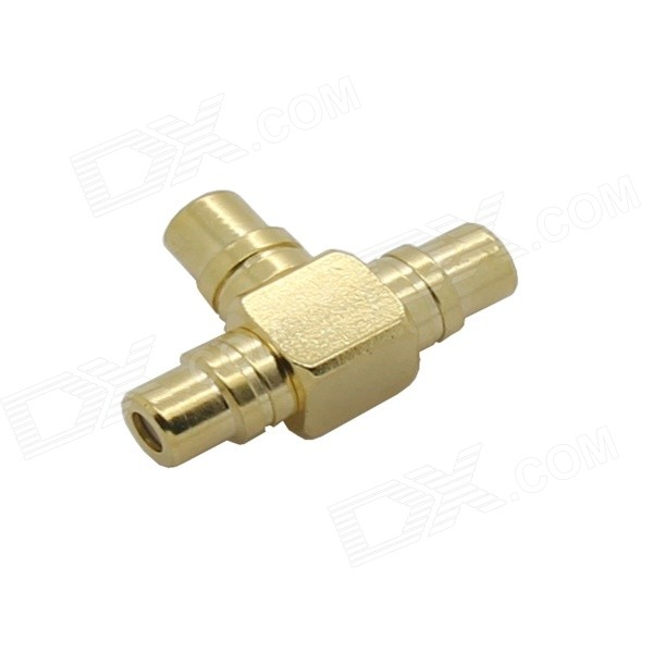 3 Hole Gilded RCA Female Connector - Golden