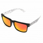 OREKA Fashion TR90 Frame Resin Lens UV400 Protection Polarized Sunglasses - Black + Transparent