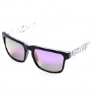 OREKA Fashion TR90 Frame Resin Lens UV400 Protection Sunglasses - Black + Purple