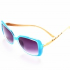 BD4009 Women's Fashion Elegant PC Lens UV400 Protection Sunglasses - Translucent Blue + Grey