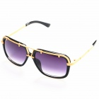 OREKA Women's Fashion PC Lens UV400 Protection Sunglasses - Black + Golden + Grey