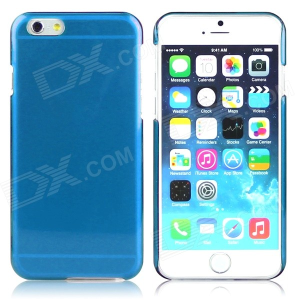 ENKAY Protective PC Back Case for IPHONE 6 4.7 - Deep Blue water drops style protective plastic back case for iphone 4 blue