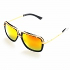 OREKA Women's Fashion PC Red REVO Lens UV400 Protection Sunglasses - Black + Golden