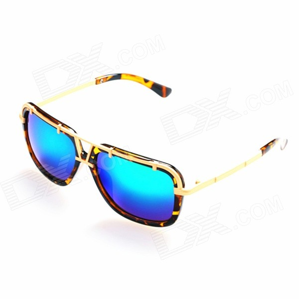 OREKA Women's Fashion PC Blue REVO Lens UV400 Sunglasses - Tortie + Gold