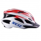 REIZ R100B Outdoor Bike Bicycle Cycling Riding EPS + PC Helmet - Red + White