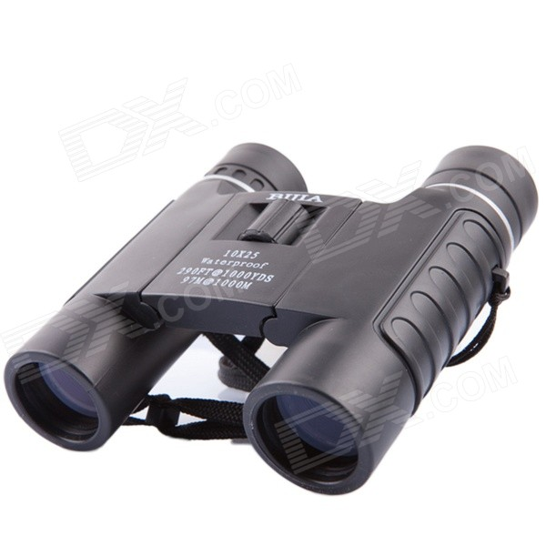 BIJIA10x25WP Nitrogen Waterproof HD High-powered Night Vision Binoculars Telescope - Black