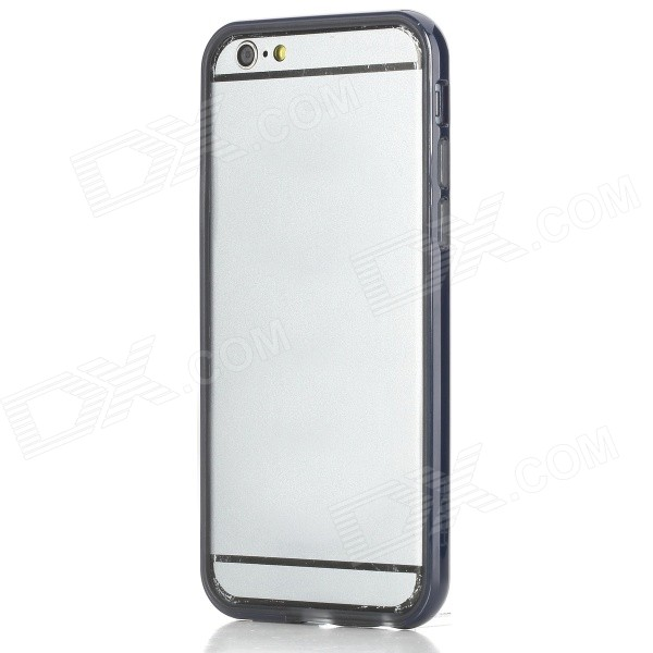 ROCK Ultra-Thin Protective TPU + PC Bumper Frame for IPHONE 6 4.7 - Navy Blue + Transparent protective tpu   pc bumper frame for lg