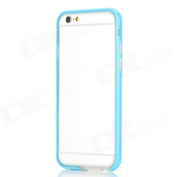ROCK Ultra-Thin Protective TPU + PC Bumper Frame for IPHONE 6 4.7 - Blue + Transparent protective tpu pc bumper frame for 4 7 iphone 6 pink transparent