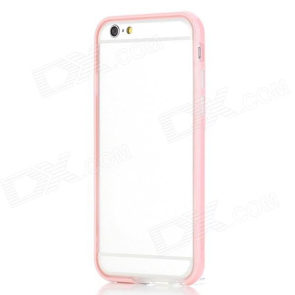 ROCK Ultra-Thin Protective TPU + PC Bumper Frame for IPHONE 6 4.7 - Pink + Transparent protective tpu pc bumper frame for 4 7 iphone 6 pink transparent
