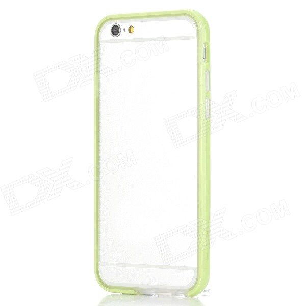 ROCK Ultra-Thin Protective TPU + PC Bumper Frame for IPHONE 6 4.7 - Grass Green + Transparent аксессуар чехол rock jello protective shell for iphone 6 white 69439
