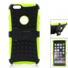 "Tyre Tread Style Protective TPU + PC Back Case w/ Stand for IPHONE 6 PLUS 5.5"" - Black + Green"