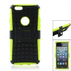 "Tyre Tread Pattern Protective TPU + PC Back Case w/ Stand for IPHONE 6 4.7"" - Black + Green"