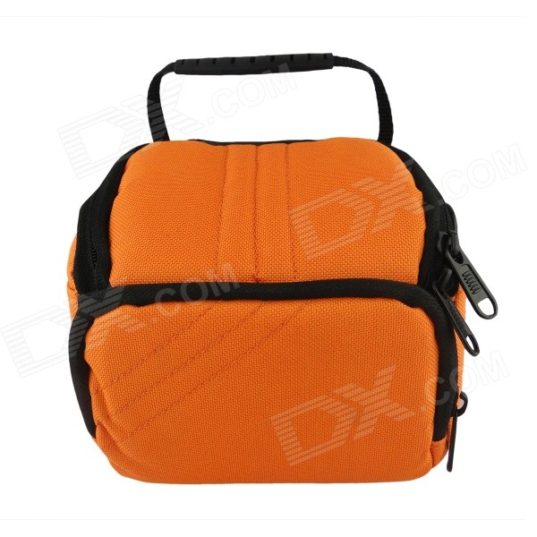 F053-OR Camera Bag for Canon / Nikon / Sony / Samsung - Black + Orange f053 gn camera bag for canon nikon sony samsung black green