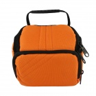 F053-OR Camera Bag for Canon / Nikon / Sony / Samsung - Black + Orange