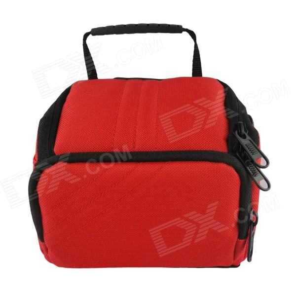 F053-RD Camera Bag for Canon / Nikon / Sony / Samsung - Black + Red