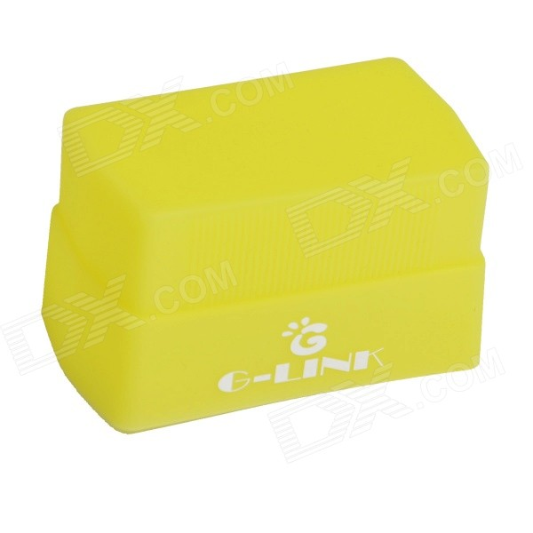 G-LINK Portable 4300KSilicone Flash Diffuser Soft Light Cover - Light Yellow
