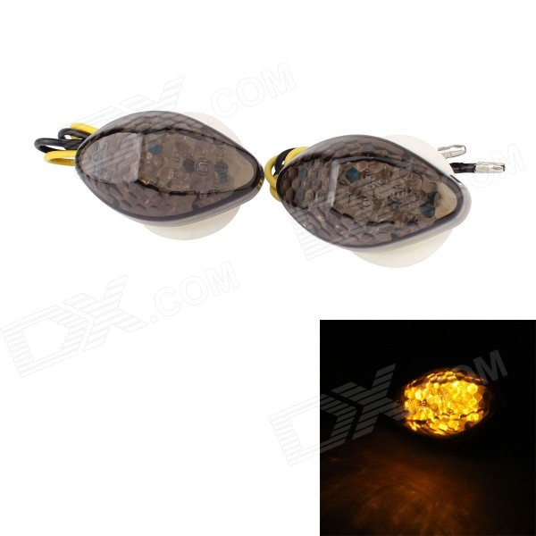 MZ 0.5W 120lm 15-LED Yellow Light Motorcycle Steering Lamp for Honda (12V / 2 PCS)
