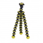 "6.5"" Mini Octopus Tripod Set for Camera / GoPro Hero 4/3 / 3+/SJ4000/SJ5000 - Black + Yellow"