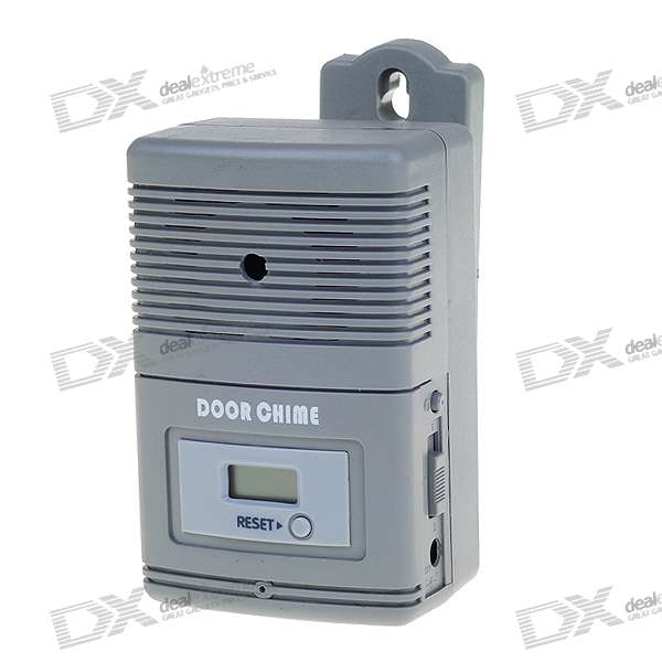 "Light Sensitive and Motion Activated Visitor Door Chime with 0.7"" LCD Counter (32-Melody/3*AA)"