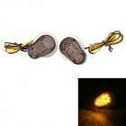 MZ 0.5W 100lm 12-LED Yellow Light Motorcycle Steering Lamps for YAMAHA (12V / 2 PCS)