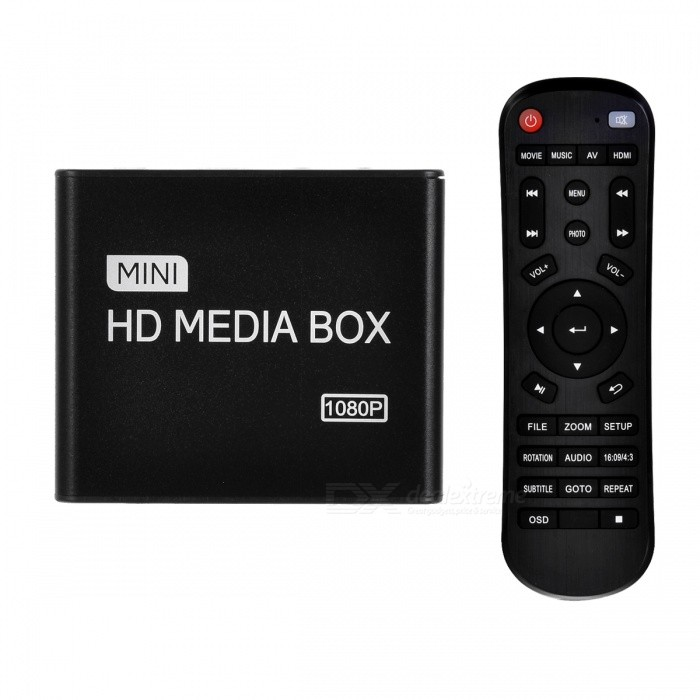 HD 1080P Home HDD / Car Multi-Media AV / Advertising přehrávač w / HDMI a nabíječka do auta - Black