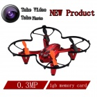 Brilink BH20 Mini 4-CH 2.4G Aerial Photography R/C Aircraft w/ 300KP Camera / 1GB Memory Card - Red