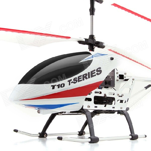 MJX T10 Shock-resistant Rechargeable 3-CH 2.4GHz 61cm R/C Helicopter w/ Gyro - White 3pcs battery and european regulation charger with 1 cable 3 line for mjx b3 helicopter 7 4v 1800mah 25c aircraft parts
