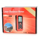 "Tyrry T40 2"" Display Distance / Area / Volume 40m Laser Distance Meter - Dark + Red (2 x AA)"