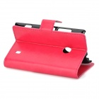 A-520 Protective PU Leather Flip-Open Case for Nokia Lumia 520 - Red