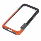 Walnutt Silicone Bumper Frame Case for IPHONE 6 - Orange + Black