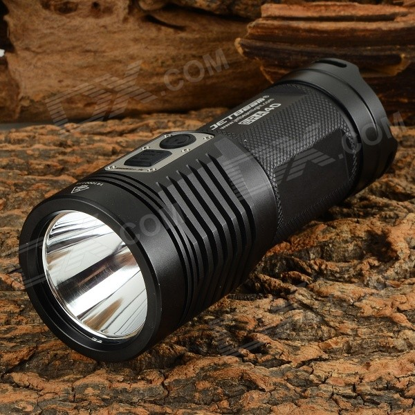 JETBeam SRA40 960lm 3-Mode Cool White LED Flashlight - Black (4 x AA) yp 3005 450lm 3 mode white zooming headlamp black 4 x aa