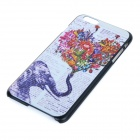 "Elephant Patterned Protective Plastic Back Case for IPHONE 6 PLUS 5.5"" - Black + White + Multicolor"