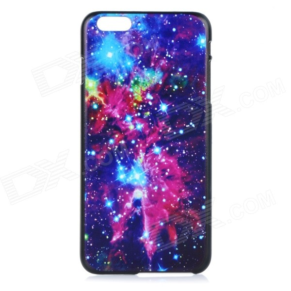 Starry Sky Patterned Protective Plastic Back Case for IPHONE 6 PLUS 5.5 - Black + Red + Multicolor elephant pattern protective plastic back case cover for iphone 6 plus black white multicolor