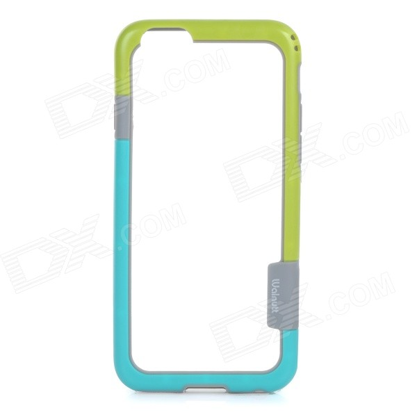 "Walnutt Protective Silicone Bumper Frame Case for IPHONE 6 4.7"" - Green + Blue + Multi-colored"