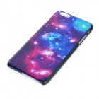 "Starry Sky Patterned Voltar protetora de plástico para o iPhone 6 PLUS 5.5 ""- preto + azul + Multicolor"