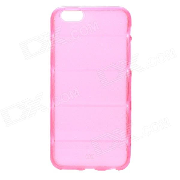 Protective Washable Soft TPU Back Case for IPHONE 6 4.7 - Translucent Pink cool skull head style protective soft silicone back case for iphone 4 4s pink
