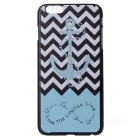 Buy Anchor Pattern Protective Plastic Back Cover Case IPHONE 6 PLUS 5.5 inch - Black + Blue Multicolor