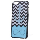"Anchor Pattern Protective Plastic Back Cover Case for IPHONE 6 PLUS 5.5"" - Black + Blue + Multicolor"