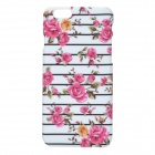 "Flowers Pattern PC Back Case for IPHONE 6 4.7"" - White + Pink"