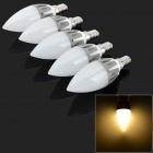 E14 3W 280LM 2700K 15-2835 SMD Warm White Lámparas de luz LED - blanco + gris (220 ~ 240V / 5 PCS)