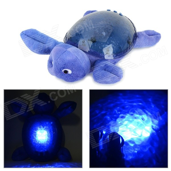 Sea Elf-Shaped 4-LED White Magical Underwater Light Effect Night Projection Lamp - Purple (3 x AA)