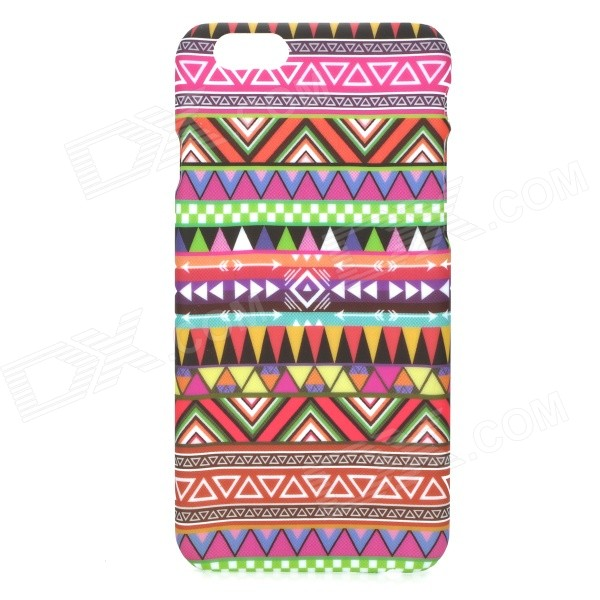 Colorful Triangle Pattern PC Back Case for IPHONE 6 4.7 - Multicolored pc dust proof mobile phone case for iphone 6 6s