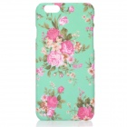 "Flowers Pattern PC Back Case for IPHONE 6 4.7"" - Green + Deep Pink"