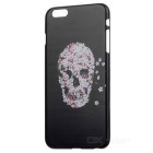 "Skull Patterned Protective Plastic Back Cover Case for IPHONE 6 PLUS 5.5"" - Black + Deep Pink"