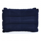 Acampar al aire libre Rectangle Flocked aire inflables Cojín Almohada - Deep Blue