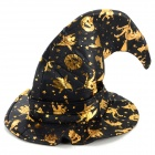 Mysterious Witch Hat for Halloween Cosplay - Black + Golden