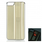 Protective Plastic Back Case w/ Rechargeable Lighter for IPHONE 5 / 5S - Champagne